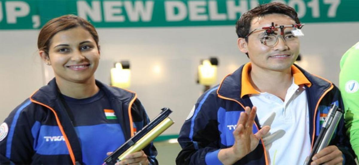 Jitu Rai and Heena Sidhu shoot World Cup gold