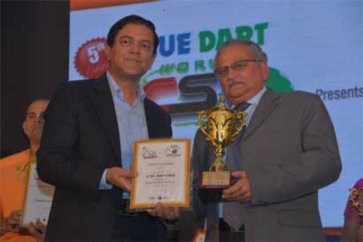 Col. Rege, Mailhem Ikos conferred the Lifetime Achievement Award at the CSR Global Green Awards