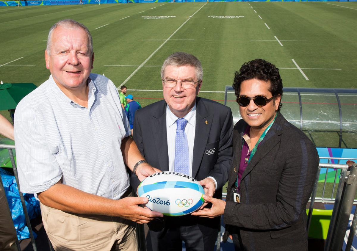 Rio Olympics: Tendulkar catches a game of rugby