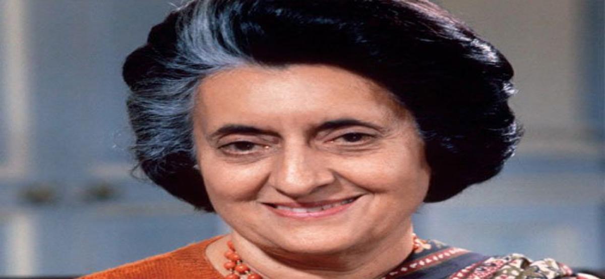 Congress leaders recall Indira's services to nation