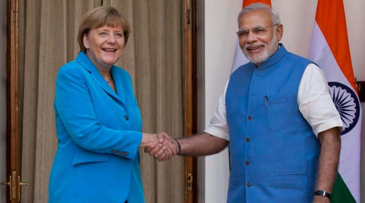Angela Merkel at Bengaluru Bosch facility
