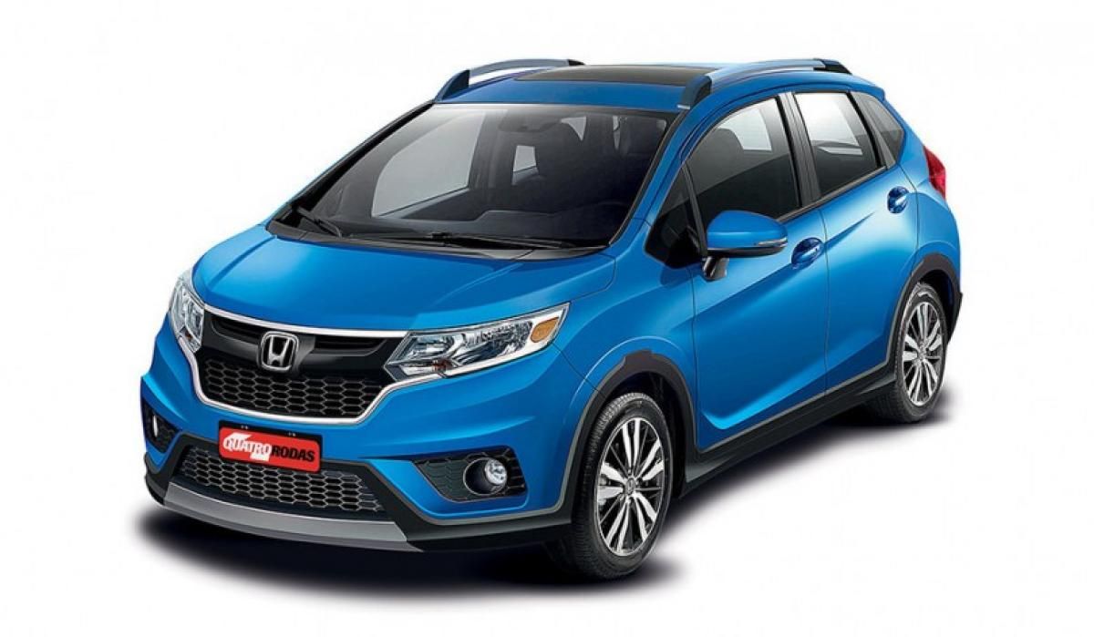 First glimpse of Honda Jazz Cross at 2016 Sao Paulo Motor Show