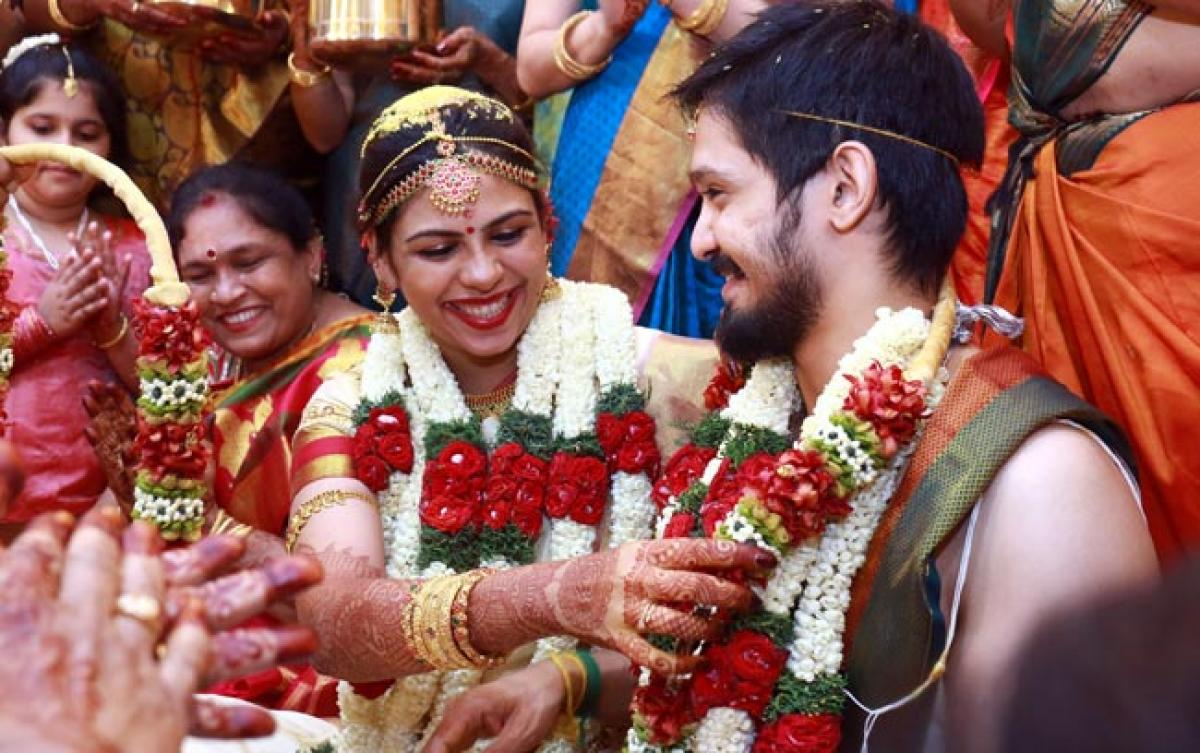 Photos: Nakul Weds Sruti Bhaskar in Chennai