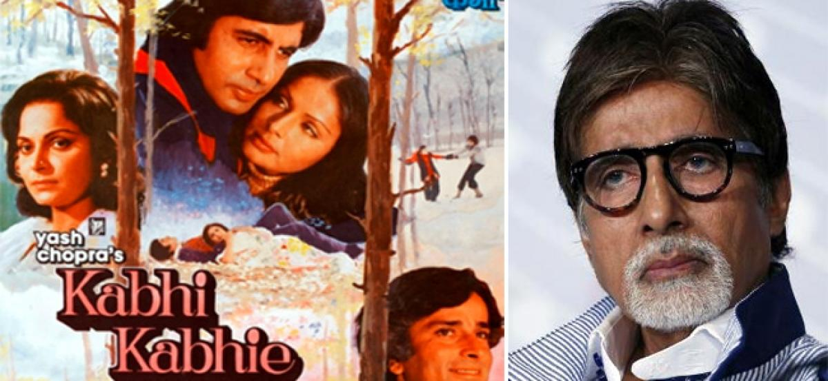 Its 40 years since Kabhie Kabhie for Amitabh Bachchan