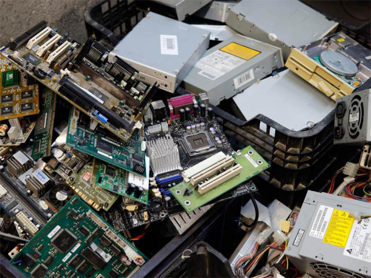 Piling up of e-waste with no effective mechanism for disposal