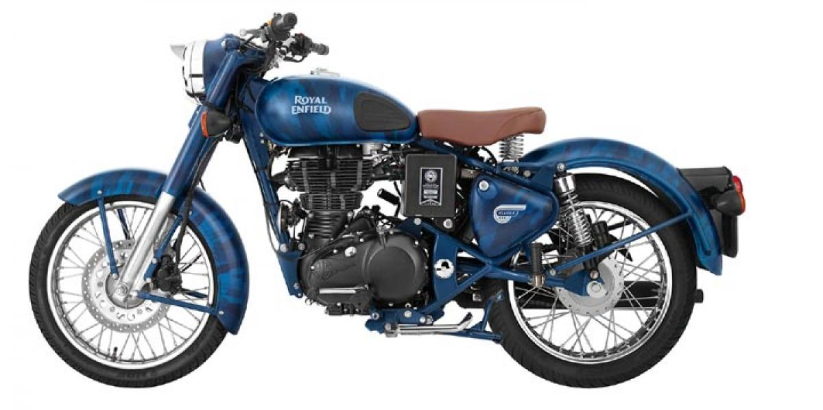 Royal Enfield introduces Classic 500 Squadron blue