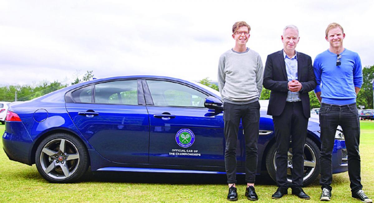 Tennis legend John McEnroe sets pulses racing for tennis fans as Jaguar's Secret Chauffeur