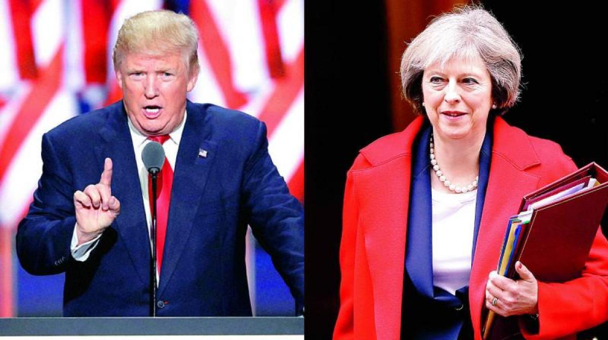 Trade tops agenda as Theresa May set to meet Donald Trump