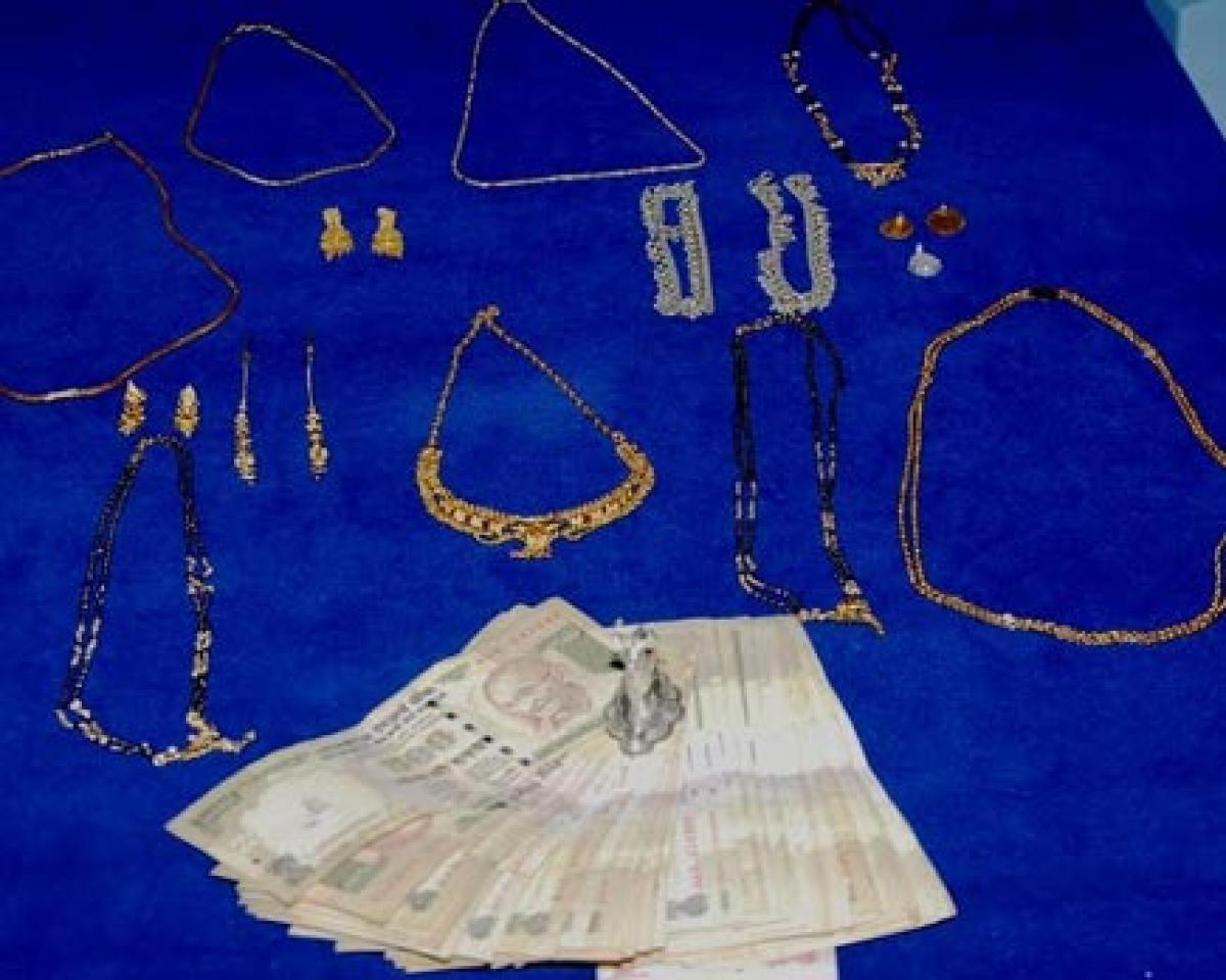 Two arrested property worth 4.1 lakh recovered