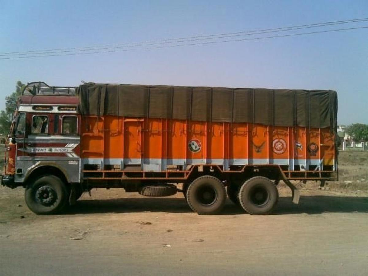 Stolen lorry recovered 2 held