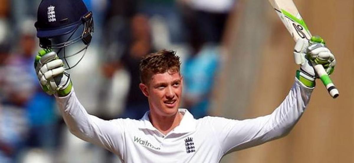 Keaton Jennings hits ton on debut, England eye big total