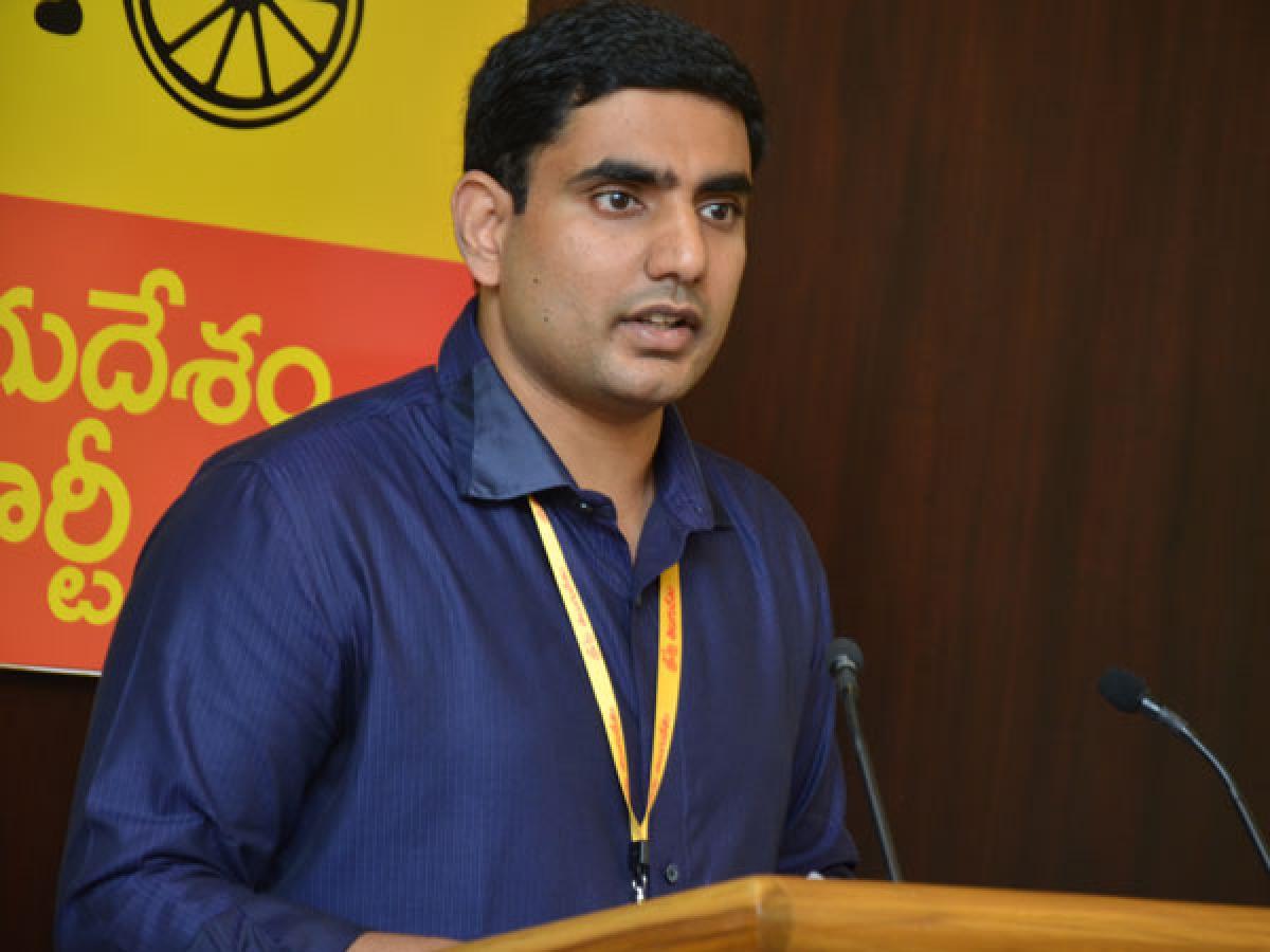 Nara Lokesh meets Telangana TDP leaders