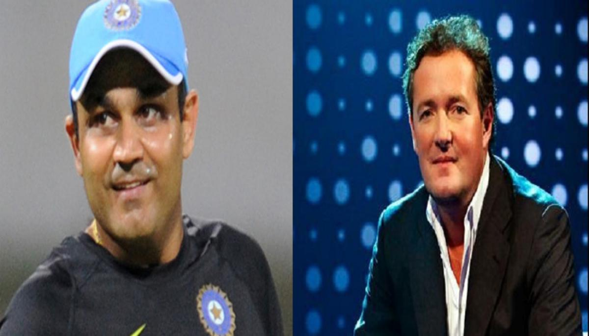 Virender Sehwag gives it back to Piers Morgan over Indias Olympic Celebration