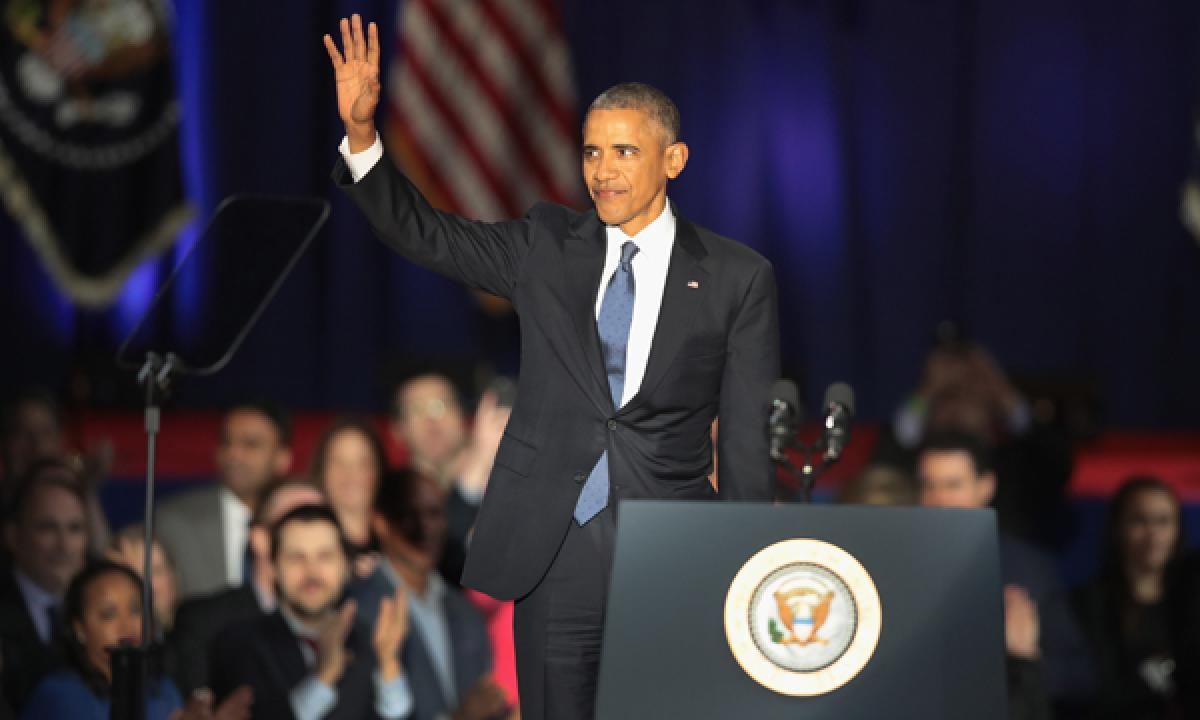 Obama at his farewell speech asks Americans to stay committed to democracy