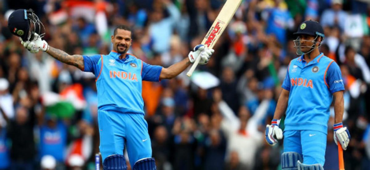 CT 2017: Dhawans 125 takes India to 321/6 against Sri Lanka