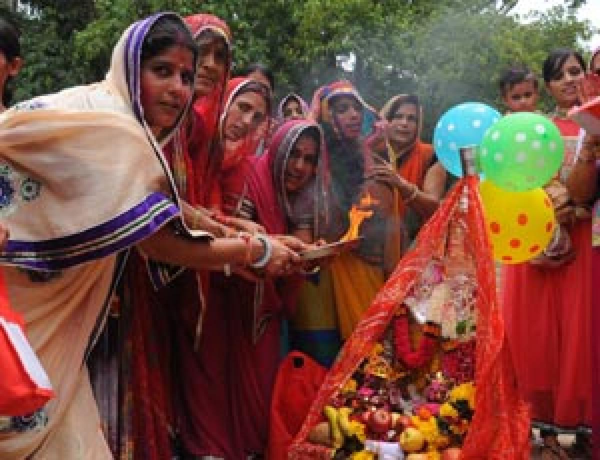 Marwadi women celebrate Sri Krishna Janmashtami
