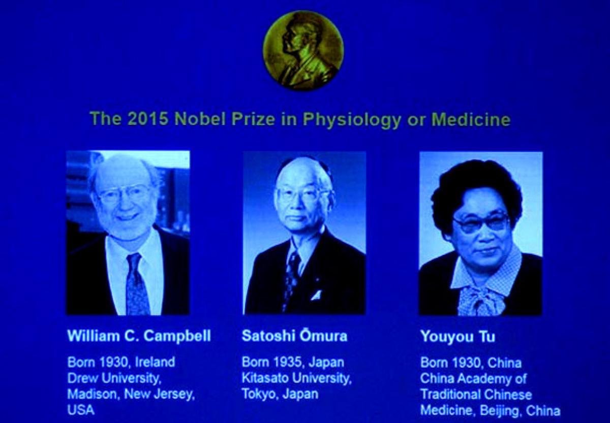 Nobel Medicine Prize for  Japanese, Chinese, Irish Scientists
