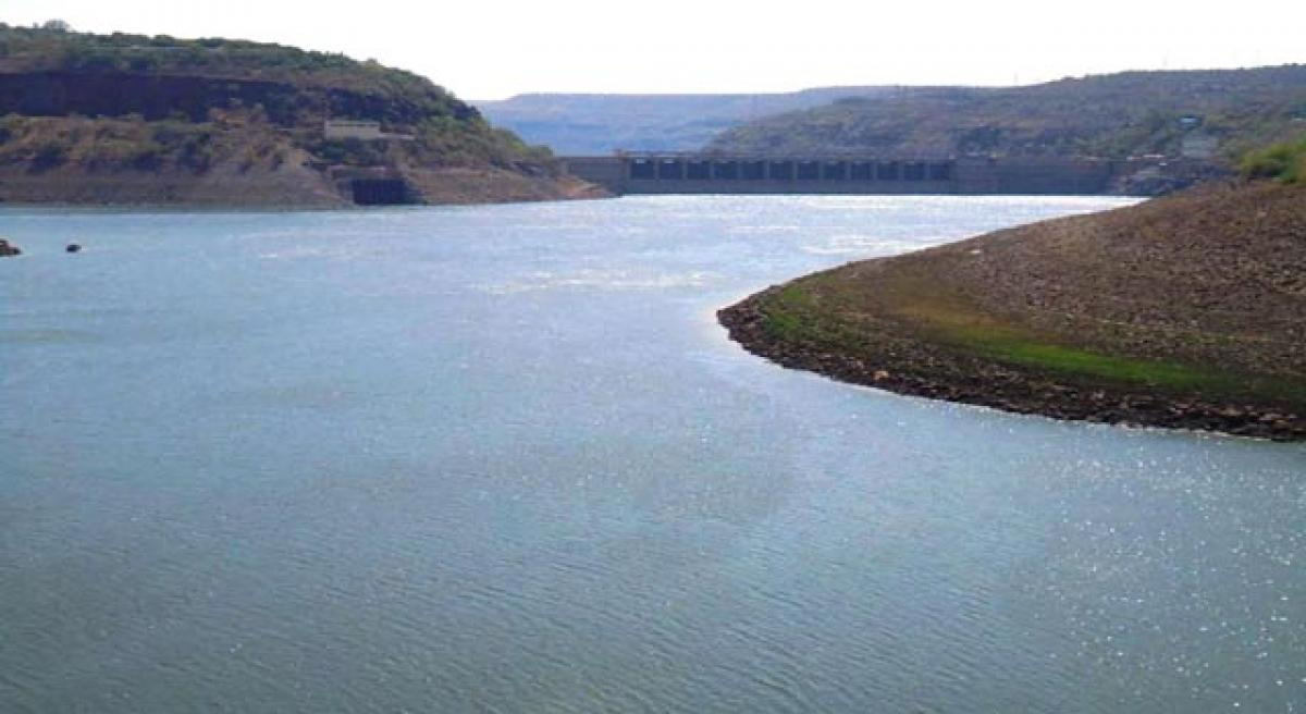 Water level in Srisailam reservoir rising.
