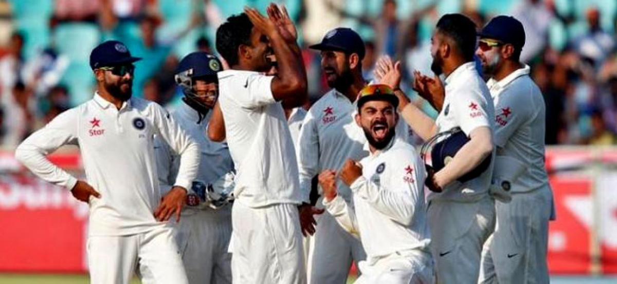 India in control after England collapse