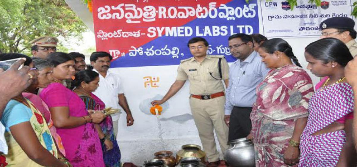 Nalgonda SP inaugurates RO plants at hostel, fluoride-hit villages