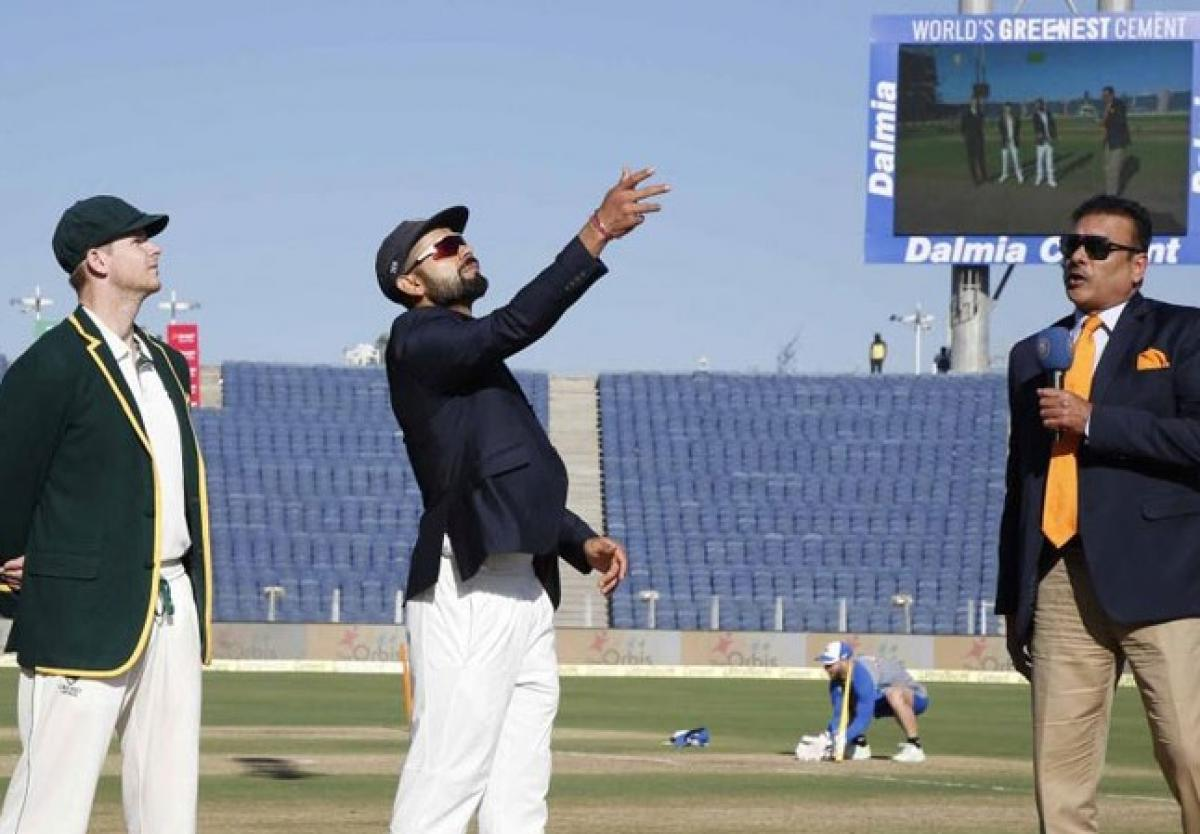 Ind Vs Aus: Kohli wins the toss, elects to bat first