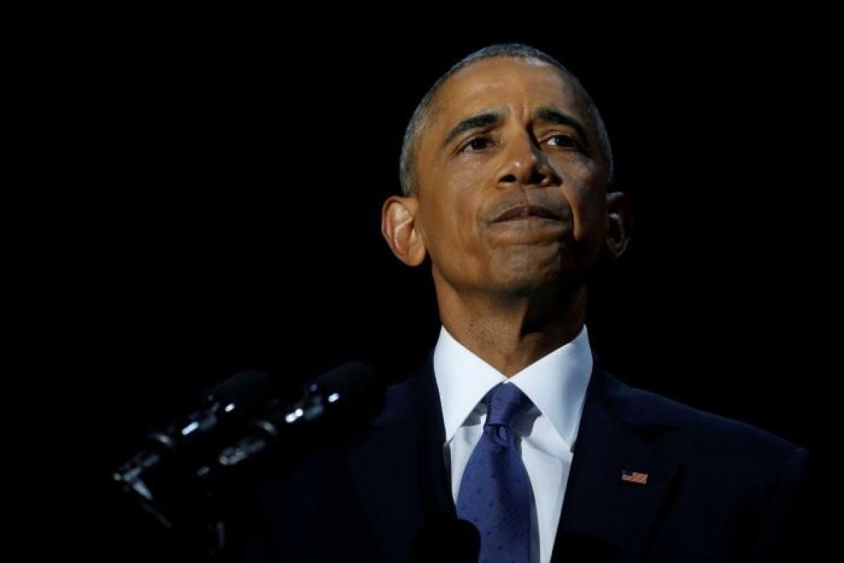 Barack Obama says goodbye in emotional farewell speech