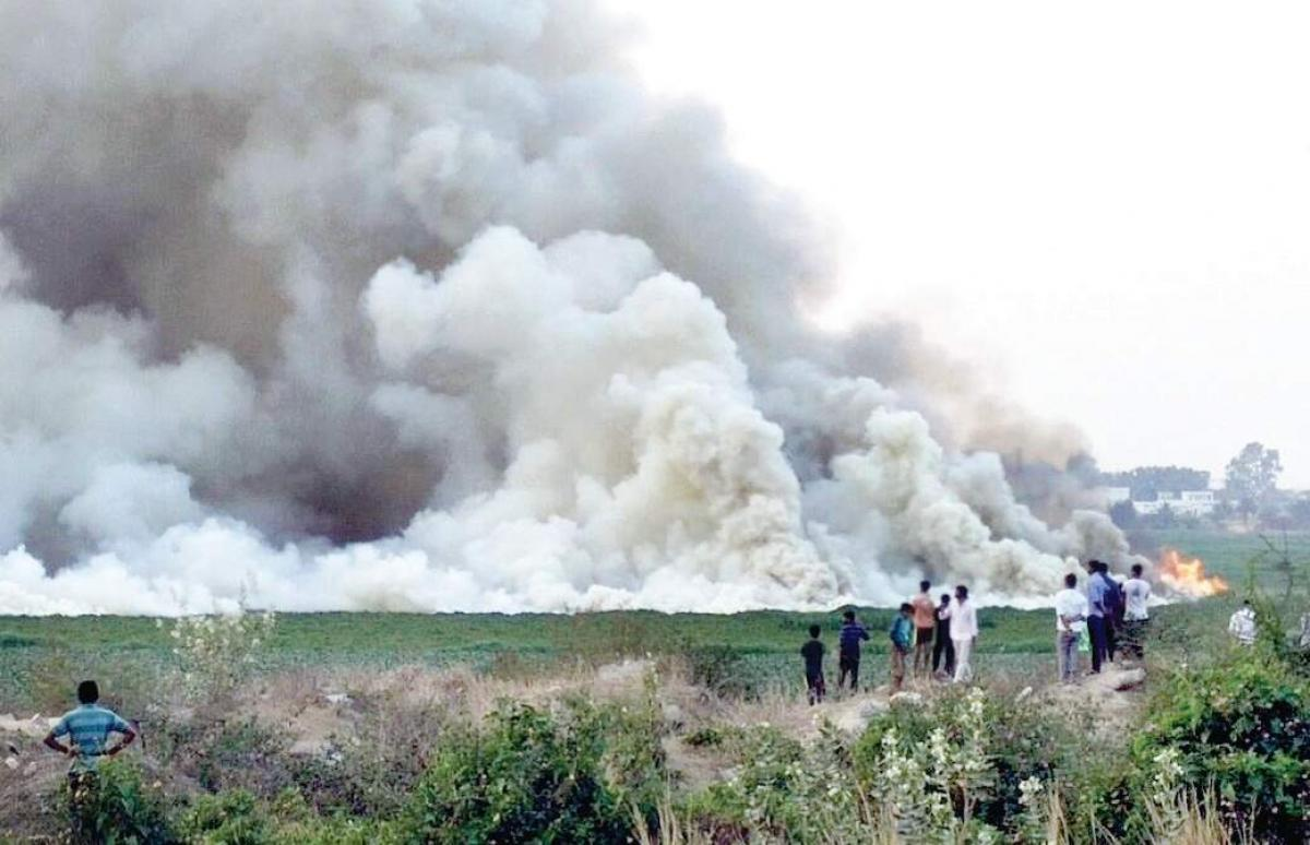 Bengaluru's Bellandur lake spews out fire, thick smoke; residents panic