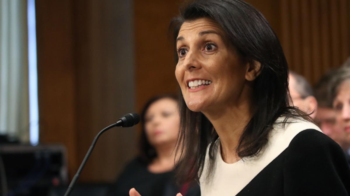 U.S. Senate confirms Haley as Trumps U.N. ambassador