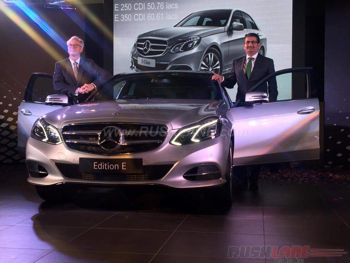 2016 Mercedes E Class Edition E launch price INR 48.6 lakh