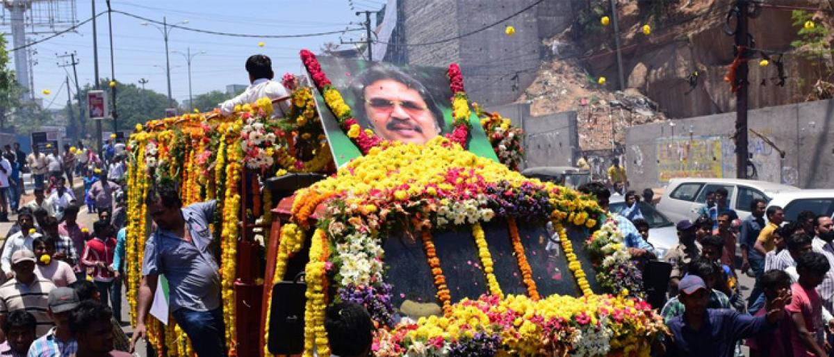 Film-maker Dasari Narayana Rao cremated with state honours