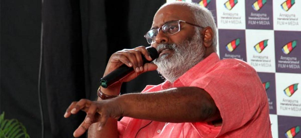 Keeravani shares his thoughts with AISFM students