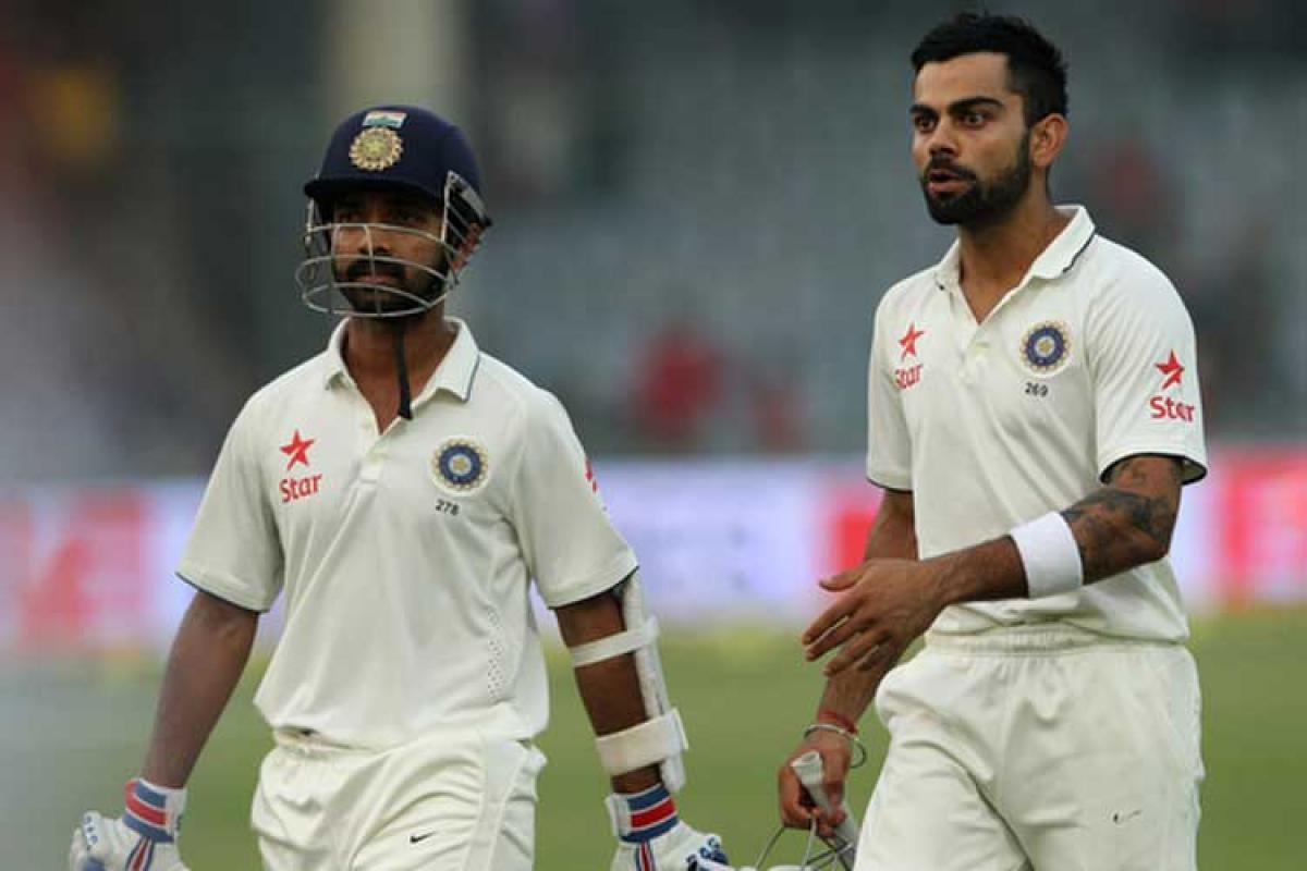 NZ bowling effort pegs India back; Kohli, Rahane steady innings