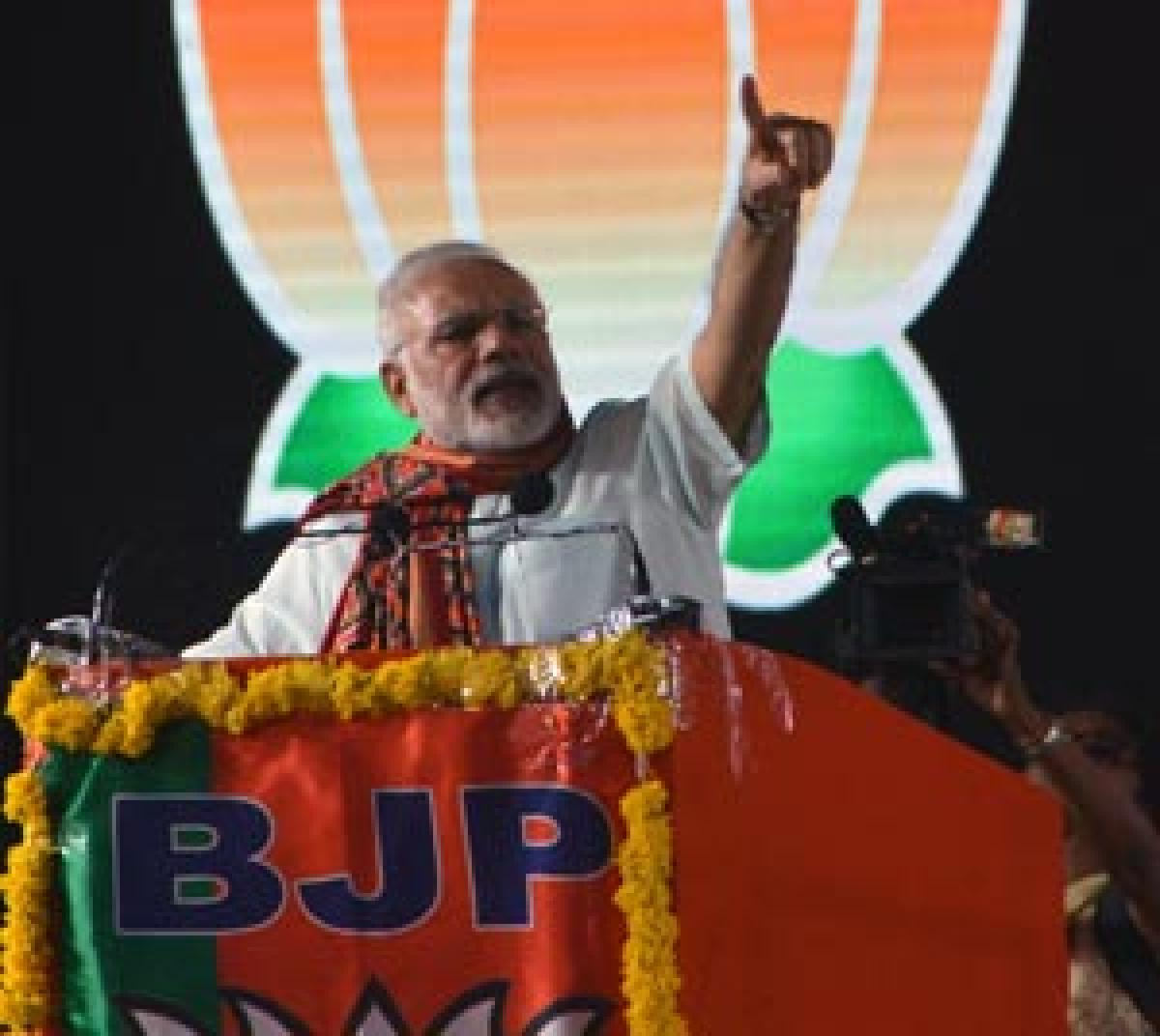 PM Modi turns party leader