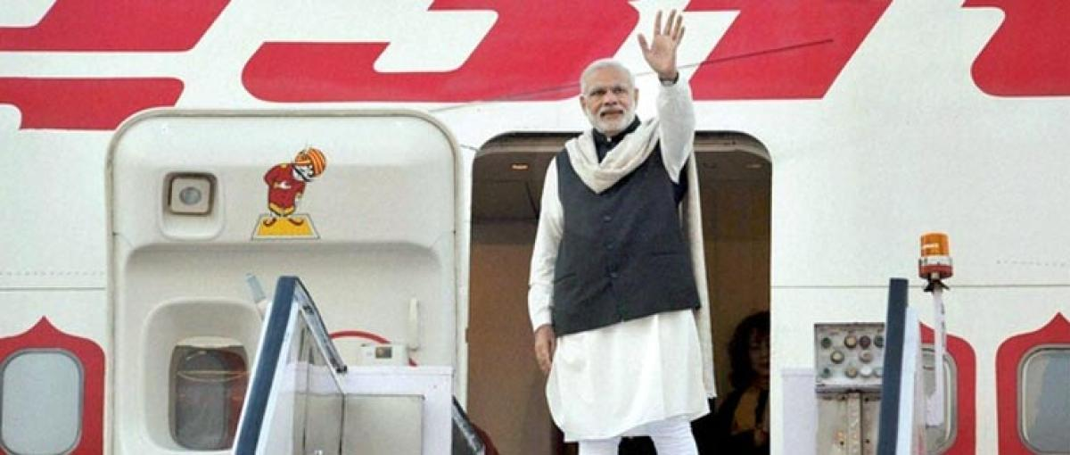 Modi arrives in Britain for three-day visit