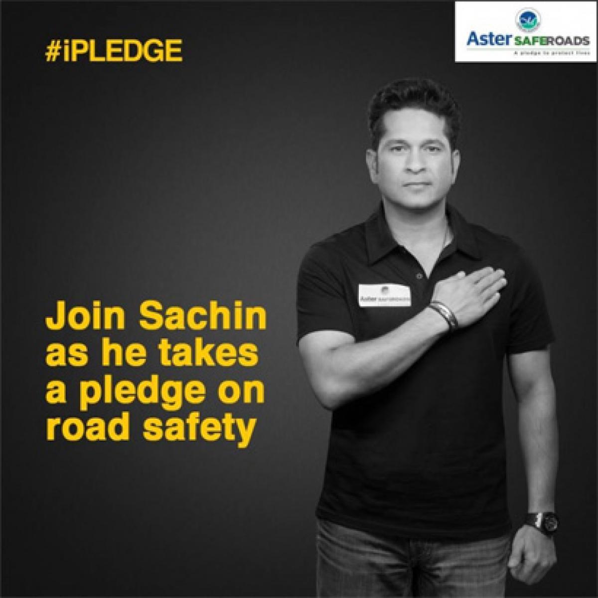 Watch: Sachin Tendulkar takes road safety pledge