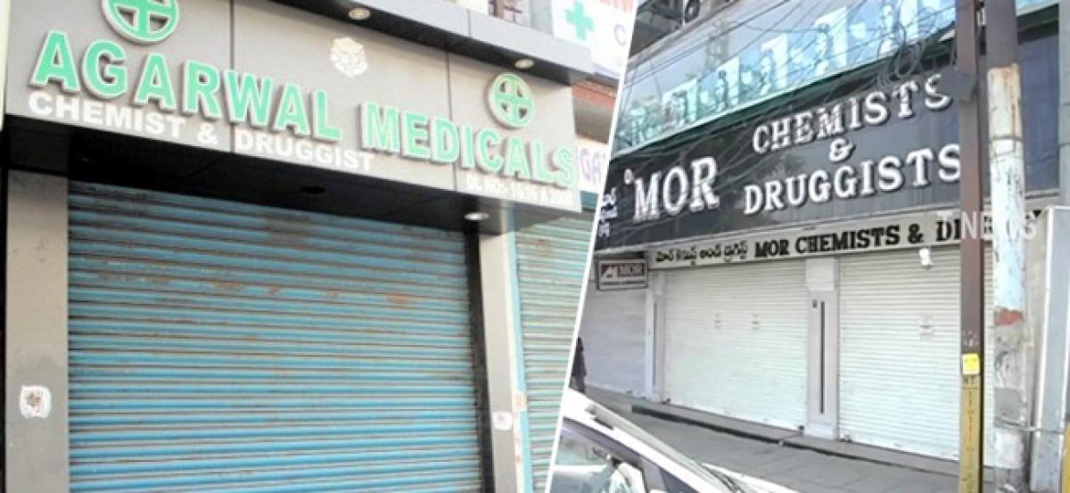 Medical shops down shutters in Telangana