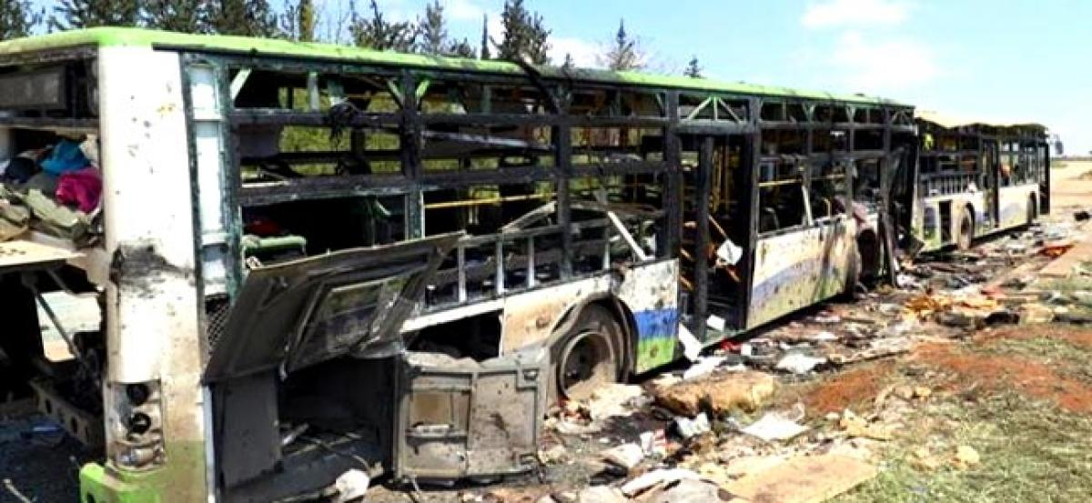 For Syrian evacuees, bus bombing a tragic end to a tragic deal