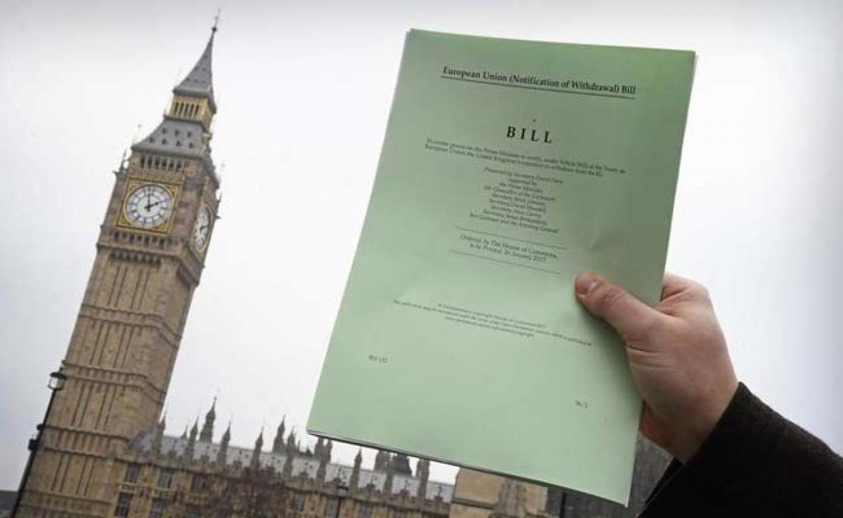 Britains Brexit Bill Clears First Legislative Hurdle