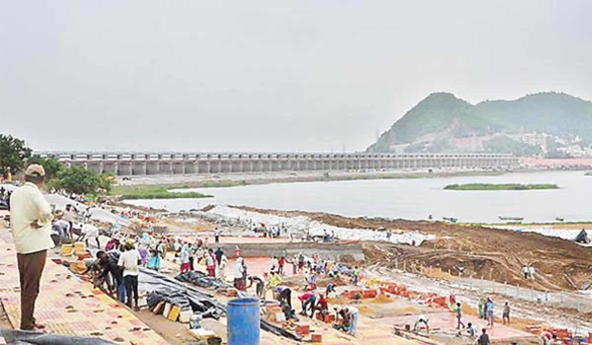 Special officer inspects Pushkaralu works