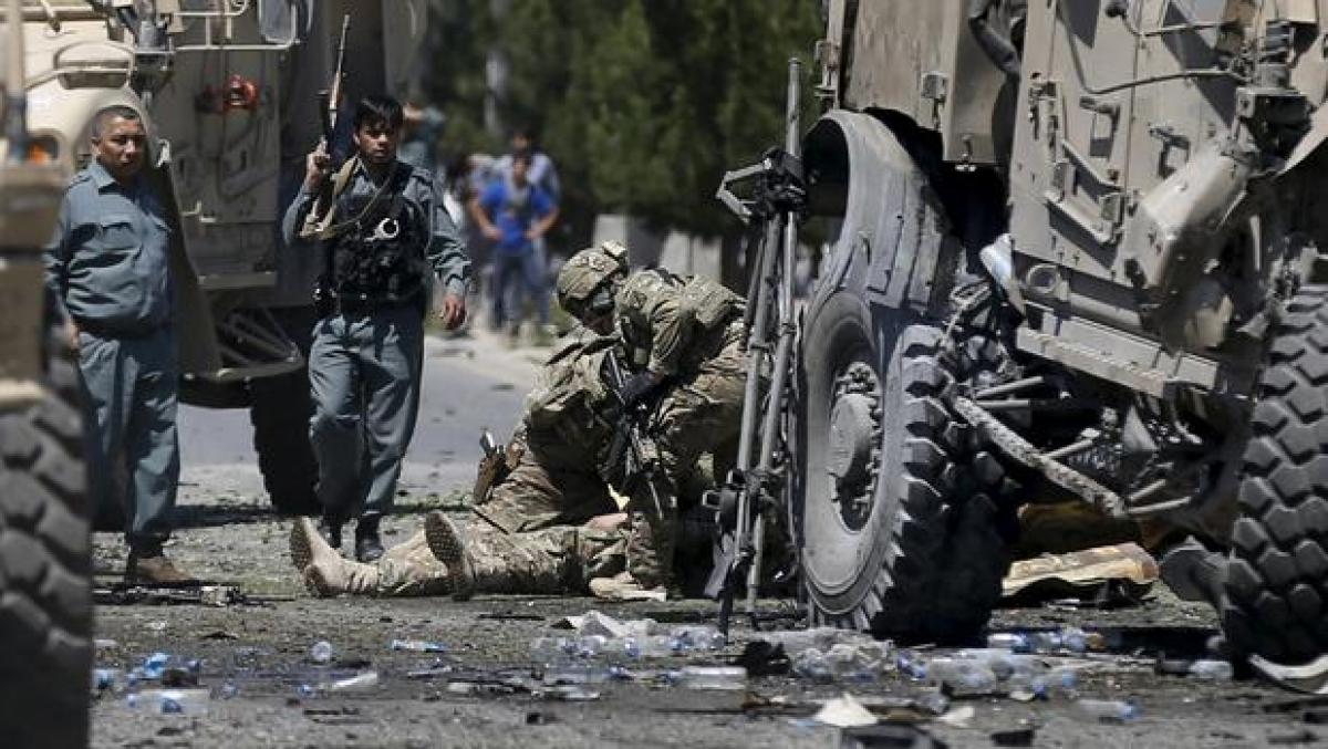 Explosion in Kabul, foreign military vehicle damaged