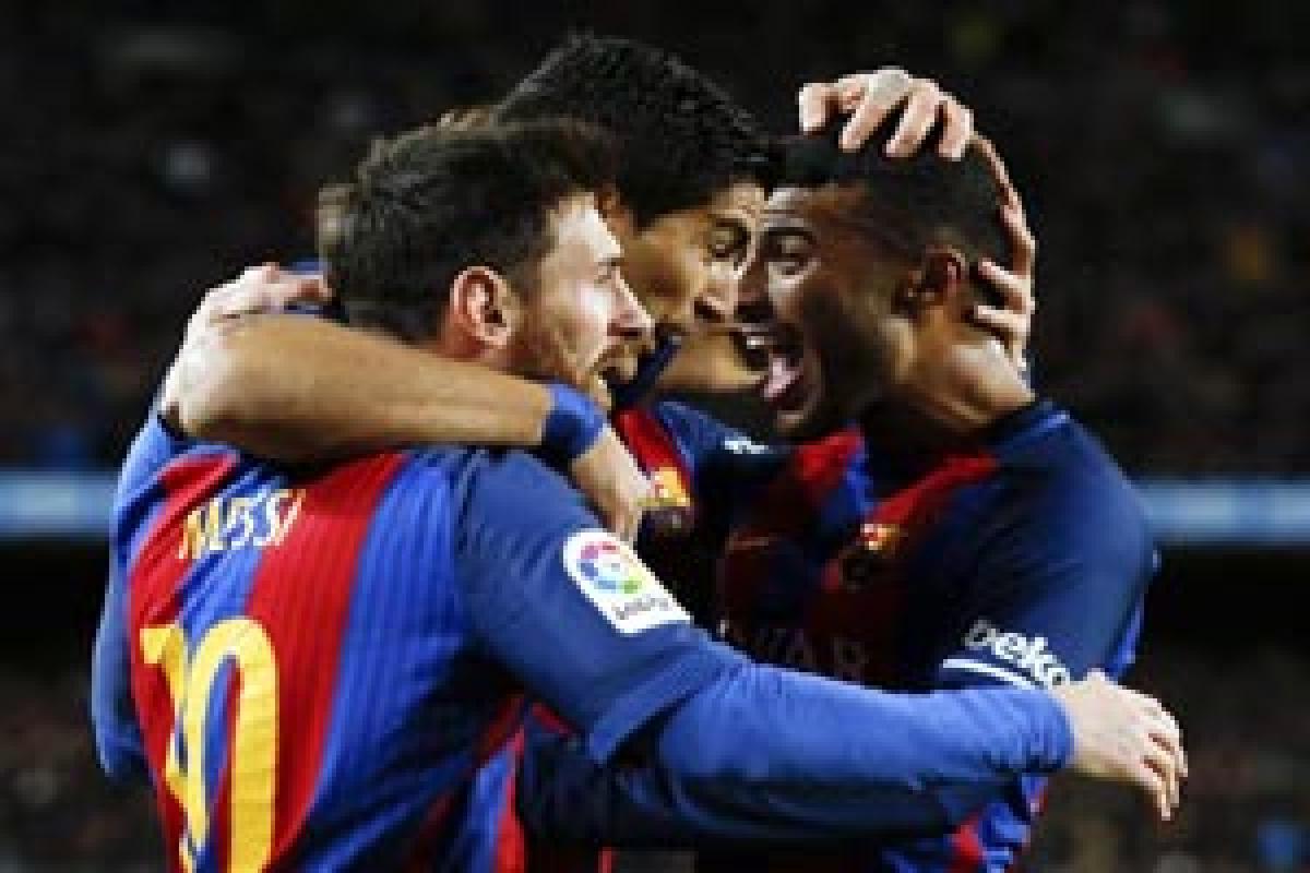 Big three fire Barca to victory