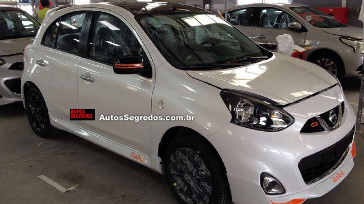 Special edition of Nissan Micra Rio sports orange accents sporty body