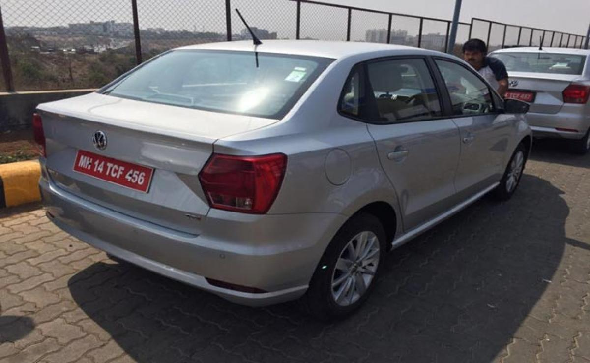 Volkswagen Ameo Diesel Spotted On Test, Launch Soon