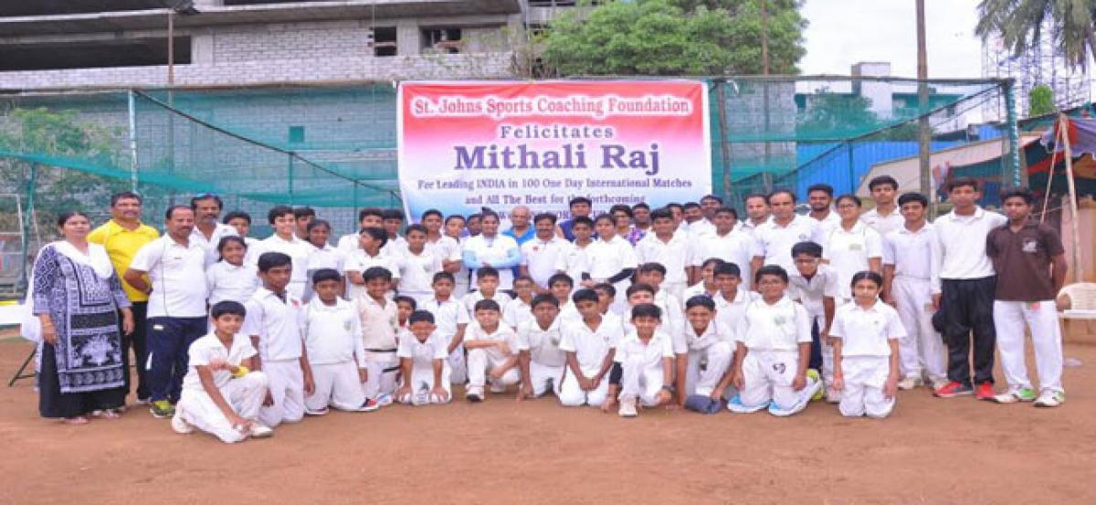 St John's Sports Coaching Foundation Fetes Mithali Raj