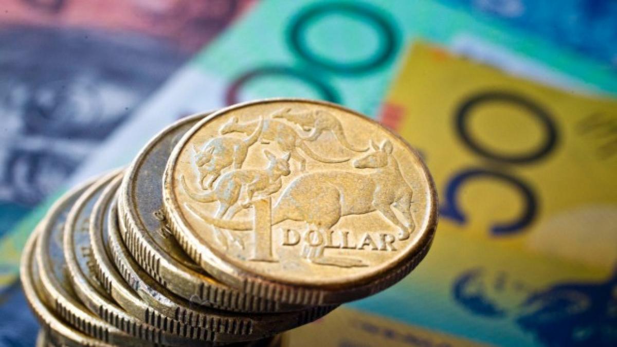 Australian dollar hits three-week high