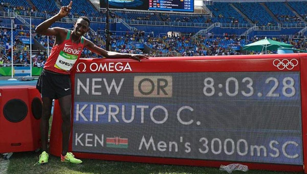Kipruto sets Olympic record