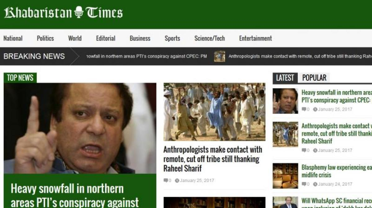 Popular satirical website blocked in Pakistan