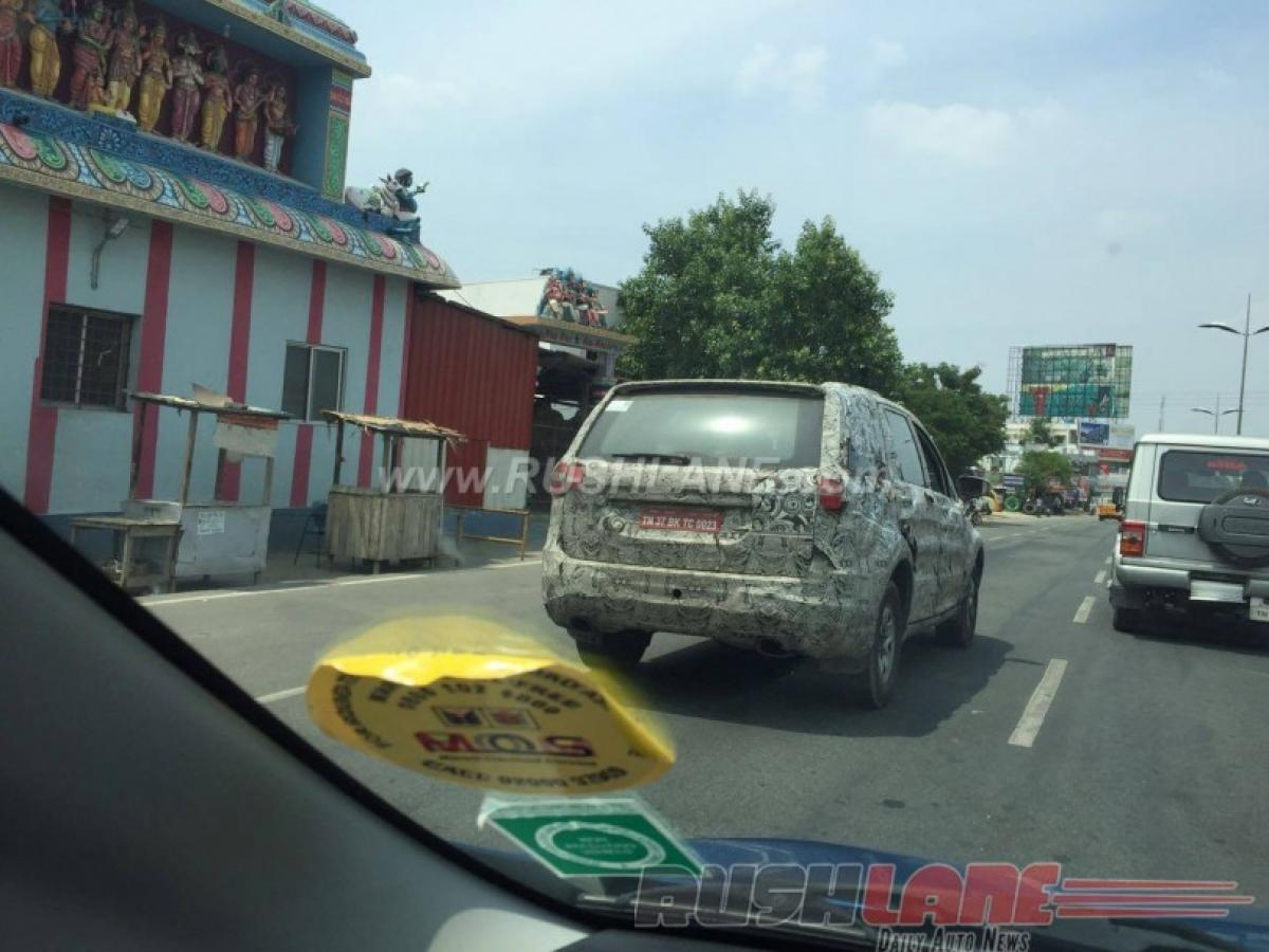 Spotted: Tata Hexa tested on Coimbatore roads