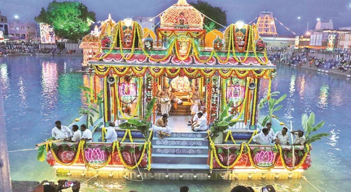 తిరుచానూరు తెప్పోత్సవాలు ప్రారంభం