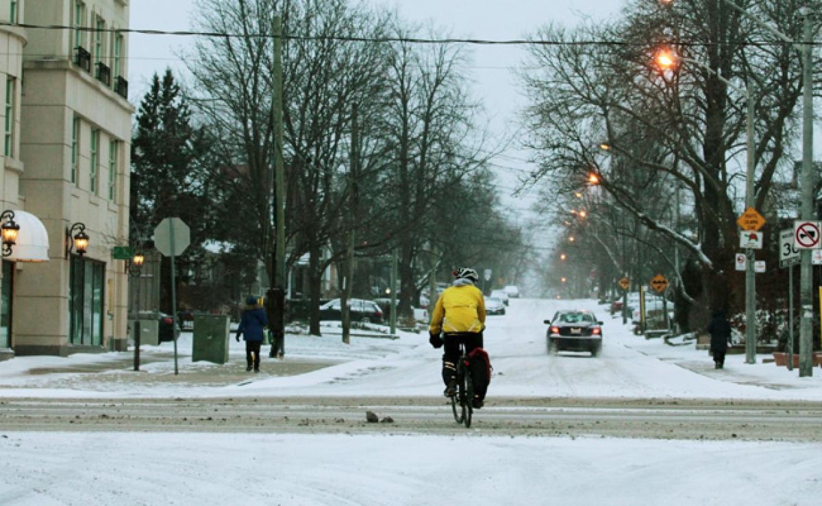 Snowstorm Forces Canada